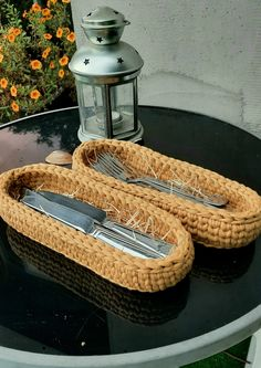 Silverware Caddy, Crochet Storage, Knife Holder, New Home Gifts, Serving Platters, Family Gifts, Warm Colors, Storage Baskets, Flatware