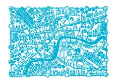 Papercut map of London