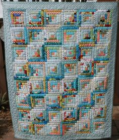 Log Cabin quilt from the IYP Round 20