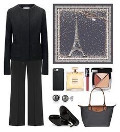 On the roof by terezah on Polyvore featuring Uniqlo, Karl Lagerfeld, House of Harlow 1960, Chanel and NARS Cosmetics