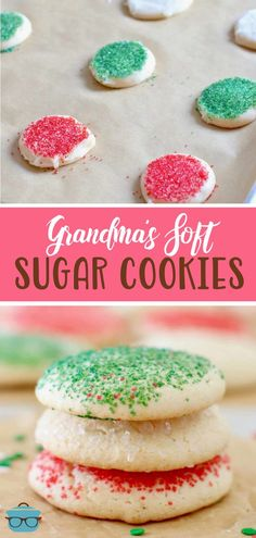 These easy holiday sugar cookies are exactly Grandma's!  Soft and delicious and so easy!