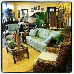 Brenda's Furniture Tropical living room Tommy... — http://www.wickerparadise.com