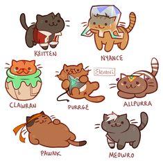 Shiro,  Keith,  Lance,  Hunk,  Pidge x Neko Atsume
