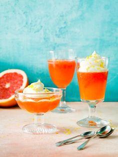 Aperol & grapefruit citrus jellies