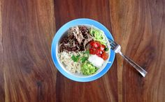 Pressure Cooker Chicken, Black Beans & Rice Burrito Bowl Make all the fixin's for a burrito in the pressure cooker in one pot - the beans, the chicken and the rice. Serve it in a bowl or wrap itinto a burrito.