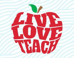 Download Teach Inspire Grow Apple SVG Cut File Set in SVG EPS DXF ...