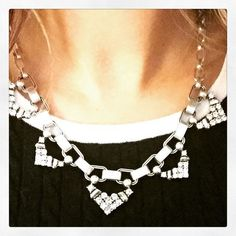 The single strand of the Silver Sutton looks stunning worn alone or layered with the rest of the necklace | Stella & Dot