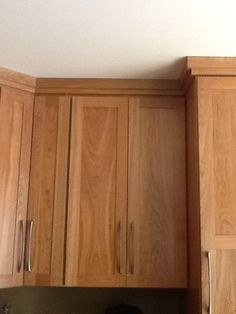 crown molding pairs well with shaker style cabinetry moulding Kitchen Cabinets Trim, Crown Molding Kitchen, Kitchen Cabinet Crown Molding, Kitchen Cabinet Door Styles, Kitchen Soffit, Cabinet Trim, Shaker Style Cabinets, Cabinet Doors, Tall Cabinets