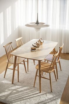 Dining Table In Kitchen, Dining Room, Table And Chairs, Dining Chairs, Chair Design, Furniture Design, Nordic Design, Scandinavian Style, Home Kitchens