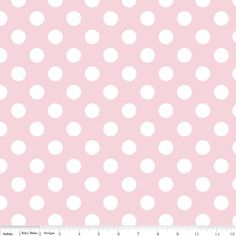 Riley Blake Medium Dots fabric in Baby Pink C36075 by WhimsyQuilts, $9.00
