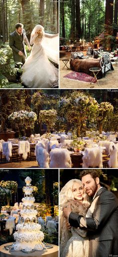 Internet billionaire Sean Parker's epic The Lord of the Rings and Game of Thrones-inspired wedding in Big Sur, California {Facebook: The Wedding Scoop}