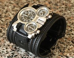 Mens Watch Steampunk Wrist Watch Leather bracelet par dganin