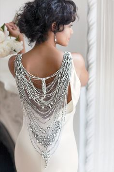 Wow! Gorgeous detailing on this dress!