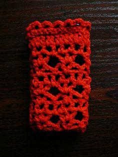 crochet mobile phone case