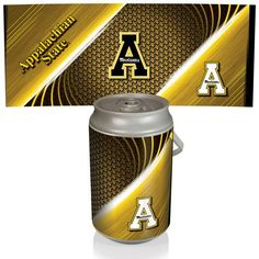 Mega Can Cooler - Silver/Gray (Appalachian State - Mountaineers) Digital Print