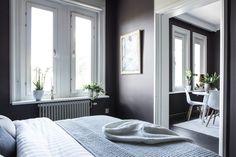 Stylish all black living room - via cocolapinedesign.com