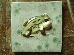 Tree Frog Tile  Stunning Individually Hand by RichardHarveyAllsop, $58.00