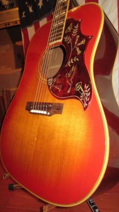 A super clean example of a 1968 Gibson Hummingbird. Sounds just like a vintage hummingbird should. Gibson Acoustic, Gibson Guitars, Acoustic Guitars, Drum Key, Beautiful Guitars, Mandolin, Hummingbird, Romance, Music