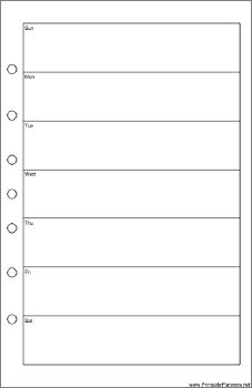 Blank Weekly Calendar Template Monday Friday  Planner