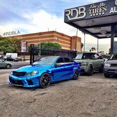 Mercedes-Benz C-Class. Blue chrome by RDB
