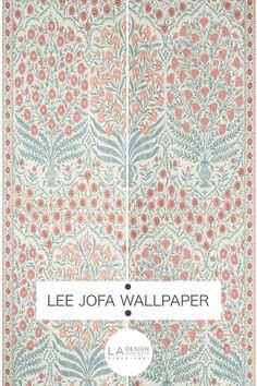 P2017100 519 Sameera Paper Red Blue Lee Jofa Wallpaper L A Design Concepts