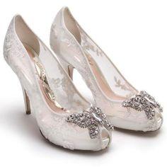 Crystal Butterfly #Wedding #Shoes from Aruna Seth. To see more wedding fashion: www.modwedding.com