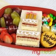 birthday bento...trying to think of something different for Jonathan.