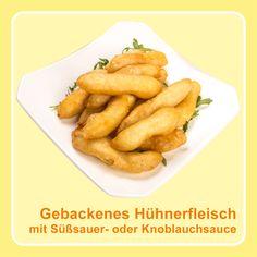 Gebackenes #Hühnerfleisch mit Süßsauer- oder Knoblauchsauce und Reis - #Gutscheinaktion im September — KungFu - Wok | Reis | Nudeln