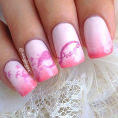 breast cancer awareness by sassyfingers #nail #nails #nailart