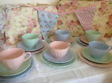 J & G Meakin Glamour Tea Set Pastel Colours FAB Tea Party Vintage Chic 1940s