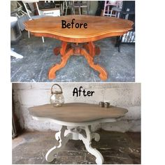 Barok salontafel met landelijke uitstraling gerestyled
