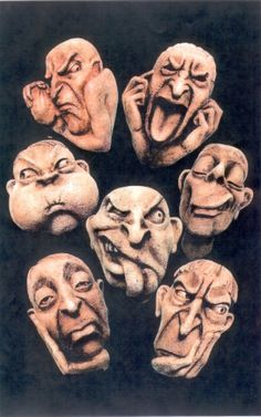 Understanding the spectrum from difficult people to Personality Disorders Sculpture Art, Sculptures, Face Mug, Clay Faces, Face Expressions, Paperclay, Clay Figures, Personality Disorder, Clay Art
