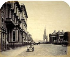 Up Princess Street, the Scott Monument and the Royal Institution - Edinburgh - 1858