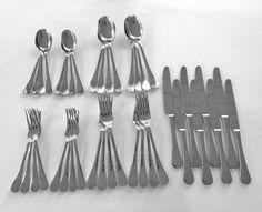 GINKGO LAFAYETTE Stainless Steel 18/0 Hammered Style Flatware Set - 40 Pcs #Ginkgo