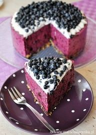blueberry cheesecake, and its no bake - perfect for summer