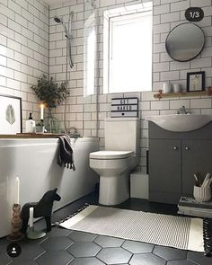 55 Subway Tile Bathroom Ideas That Will Inspire You Subway Tile Ba. - 55 Subway Tile Bathroom Ideas That Will Inspire You Subway Tile Bathroom Ideas That W - Upstairs Bathrooms, Rustic Bathrooms, Tiled Bathrooms, Master Bathrooms, Bathroom Mirrors, Dream Bathrooms, Bathroom Cabinets, Bathroom Tiling, Luxury Bathrooms
