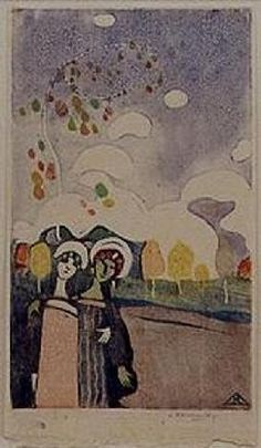 Wassily Kandinsky - Zwei Mädchen
