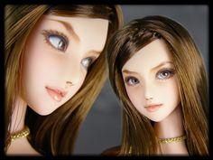 "★ = daughter = custom head (Obitsu 01) ""Maya"" ★"