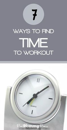 If you struggle to find time to workout, here are 7 great suggestions that you might not have thought of