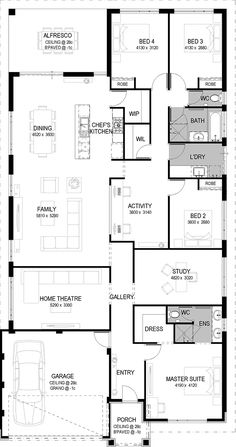 New bedroom master luxury house plans Ideas Family House Plans, Bedroom House Plans, Best House Plans, Dream House Plans, House Floor Plans, My Dream Home, Luxury House Plans, Modern House Plans, Shed Homes