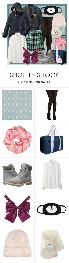 """Jungkook school uniforms"" by cristinamariaalvarezramirez ❤ liked on Polyvore featuring Cole & Son, Shawlsmith London, Timberland and Uniqlo"