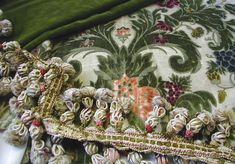 18th C.Italian Cisele velvet pillow in the making