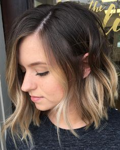 """What is Hair Painting? Balayage means """"to sweep"""" in French. Butter Blonde, Truss Hair, Hair Color Balayage, Balayage Highlights, Hair Painting, Short Hair Cuts, Ombre On Short Hair, Brown Hair With Blonde Tips, Baylage Short Hair"""