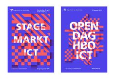 HvA HBO-ICT - visual identity on Behance