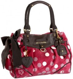 Juicy Couture I Love Dotty Daydreamer Purse Pink