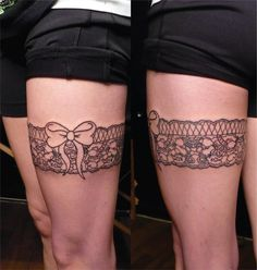 This is my garter tattoo, suggestions on colours to finish her up?