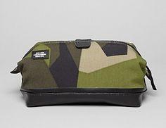 Jack Spade Camo Dipped Travel Dopp Kit