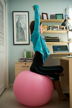 Ball Exercise at desk