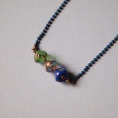 Three star beads necklace