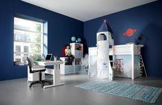 Dormitorio para aquellos niños que andan siempre en la luna ;)